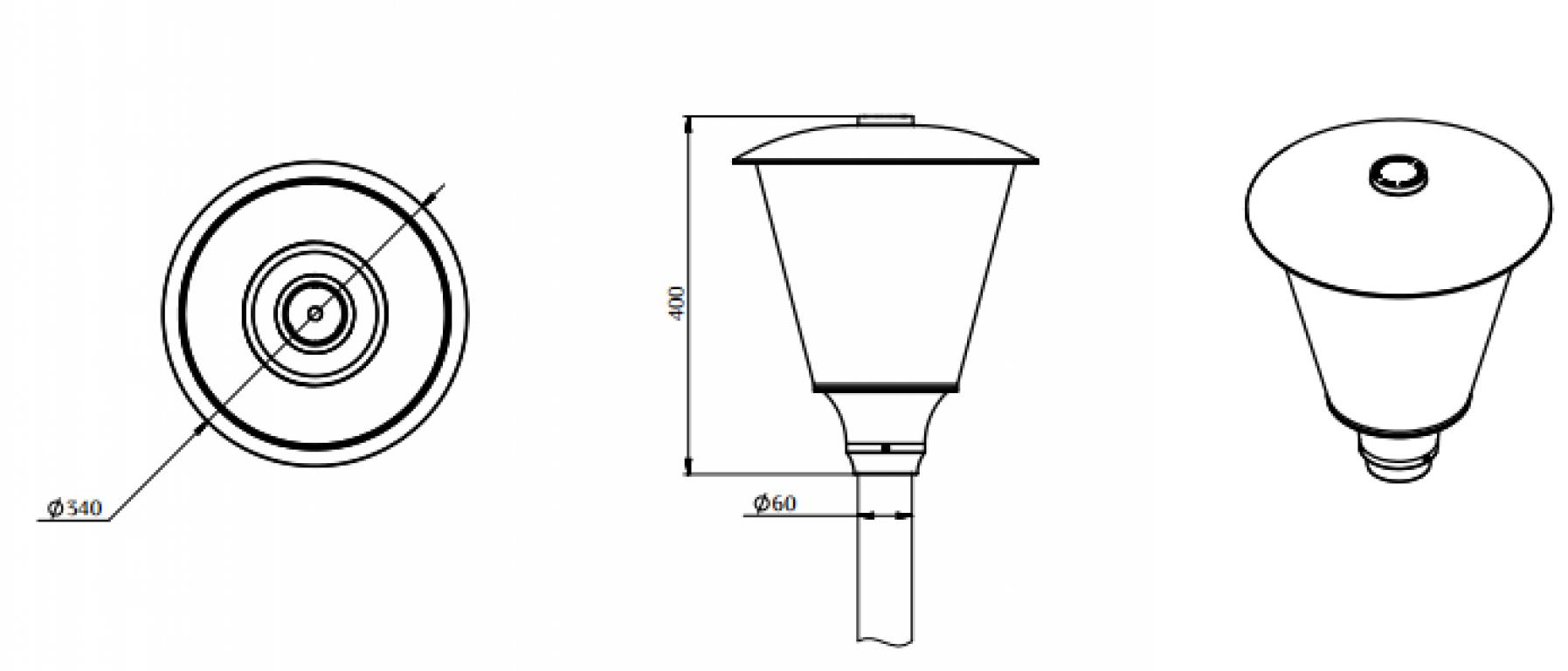 Светильник ДТУ 04-40-50